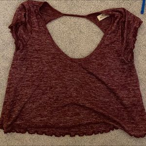 Hollister Crop Top with Open Back